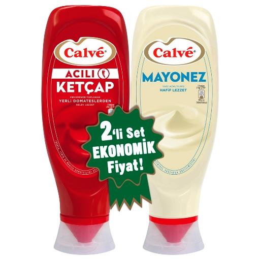 CALVE KETCAP MAYONEZ ACILI SET 550ML 1140 GR resmi