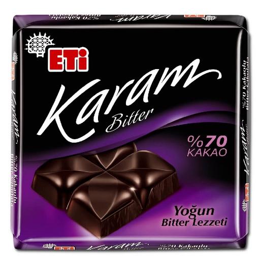 ETI KARAM BITTER %70 KAKAO 70 GR 2180400 resmi