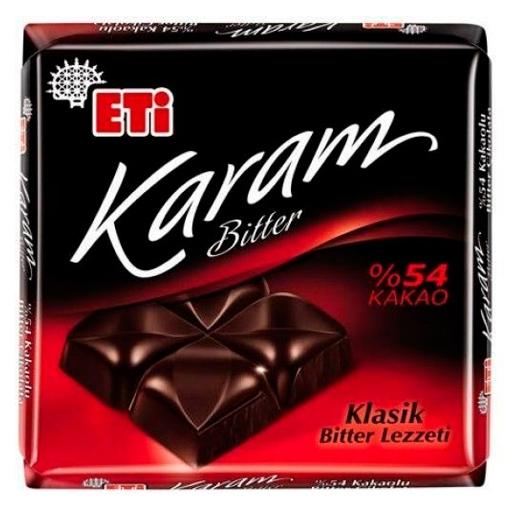 ETI KARAM BITTER %54 KAKAO 70 GR 2175900 resmi