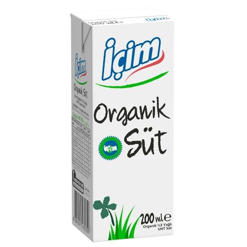 ICIM ORGANIK SUT 200 ML resmi