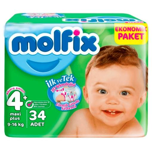 MOLFIX 3D 4+MAXI PLUS 9-16 KG 34 ADET resmi