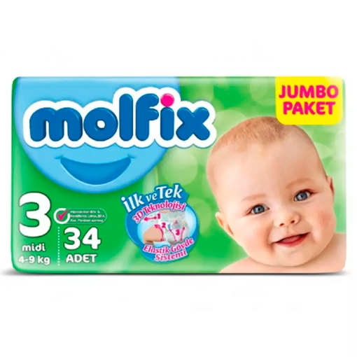 MOLFIX 3D 3 MIDI 4-9 KG 34 ADET resmi