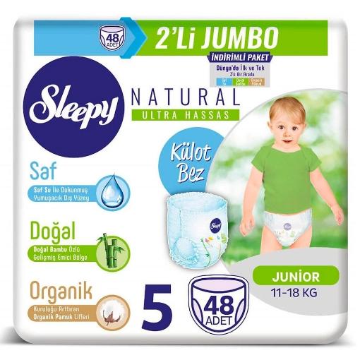 SLEEPY NATURAL KULOT BEZ NO 5 JUNIOR 48 ADET resmi