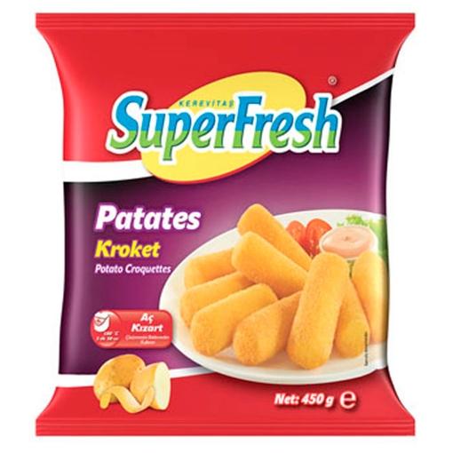 SUPERFRESH PATATES KROKET 450GR resmi