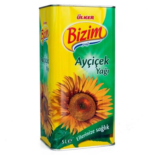 ULKER BIZIM AYCICEK YAGI 5 LT 2311-00 resmi