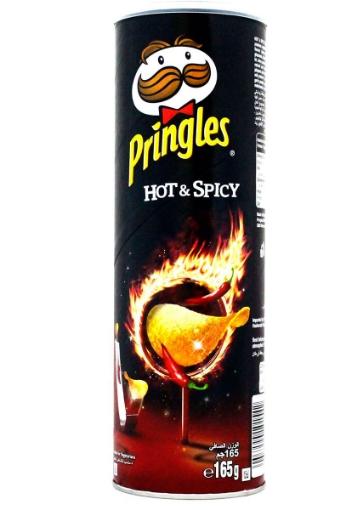 PRINGLES HOT.SPICY. 165 GR resmi