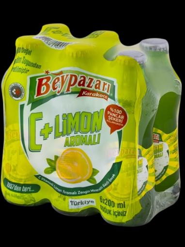 BEYPAZARI C PLUS LIMONLU SODA 6*200 ML resmi