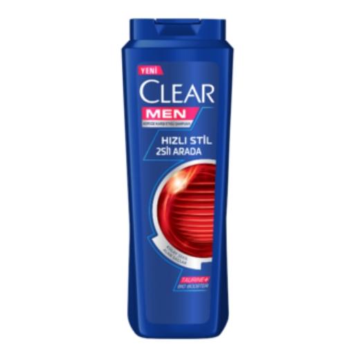 CLEAR MEN HIZLI STIL 2 IN1SAMPUAN 550 ML resmi