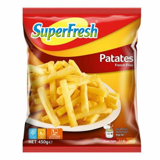 SUPERFRESH PATATES 450GR resmi