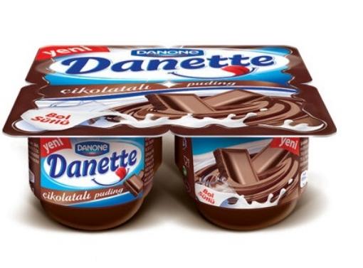 DANONE DANETTE CIKOLATA PUDING 4*90 GR resmi