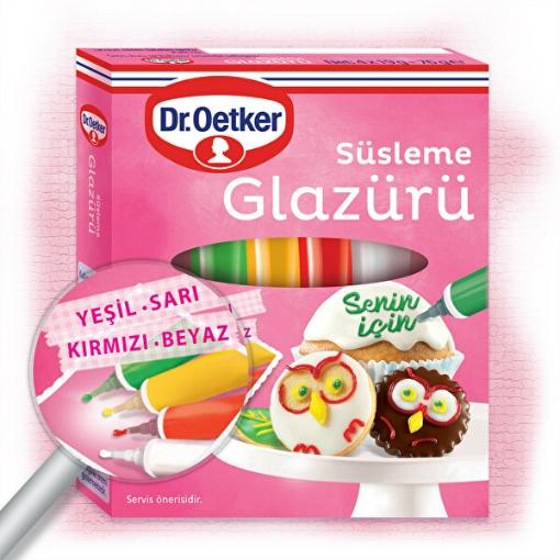 DR. OETKER SUSLEME GLAZURU 4RENK 76 GR resmi