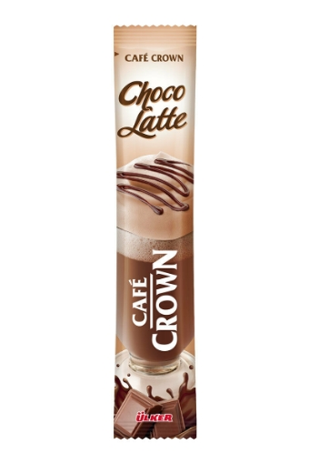 ULKER CAFE CROWN CHOCO LATTE 17GR 95003 resmi