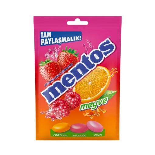 MENTOS FRUIT MIX BAG 100 GR resmi