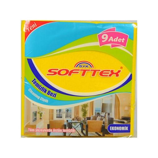 SOFTTEX TEMIZLIK BEZI 9 LU resmi