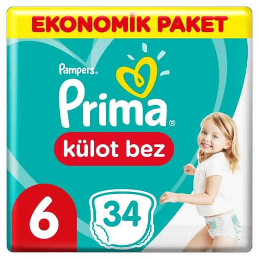 PRIMA PAMPERS KULOT BEZ NO 6 resmi